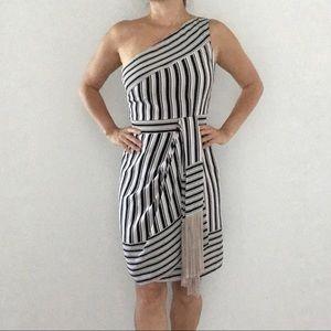 🔥 BCBG Maxazria Women's Black Striped Dress 🔥